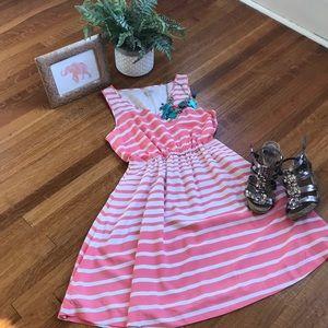 Gap Pink and White Dress